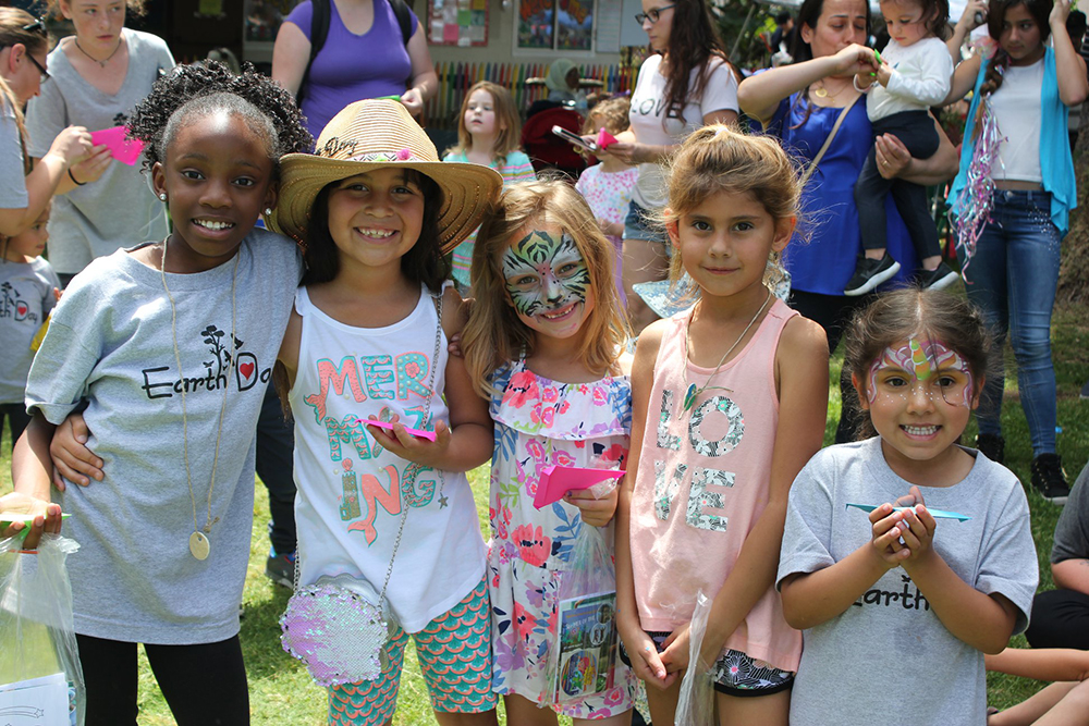happy smiling girls with face paint at a Preschool & Daycare Serving El Cajon, Lakeside and Santee CA